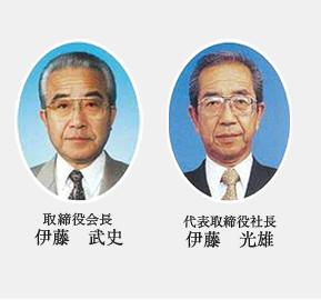 代表取締役会長 伊藤 武史 / 代表取締役社長  伊藤 光雄
