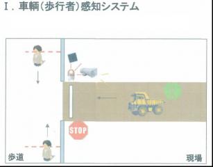 車輌(歩行者)感知センサーシステム