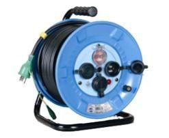 防雨防塵型電工ドラム(ブレーカ付)