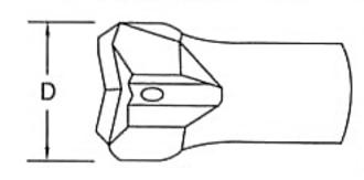 さく岩機用テーパーカークロスビット